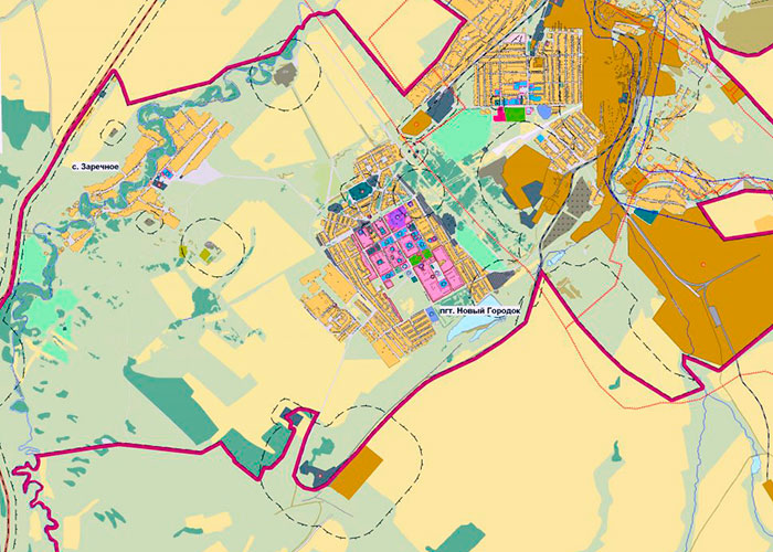 Карта г. Белово