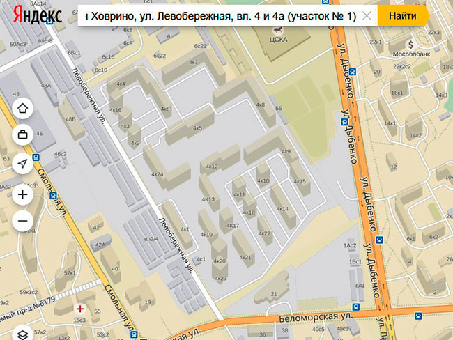 Москва, Левобережная, вл. 4 и 4а