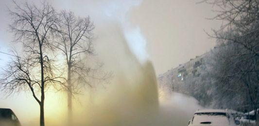 Фонтан горячей воды
