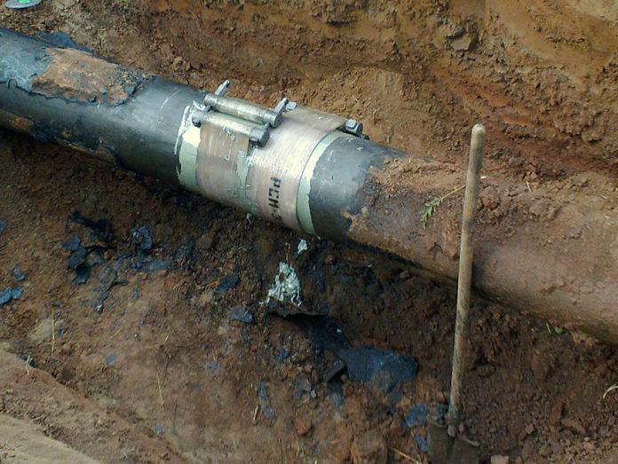 Ремонт трубопровода, РСМ