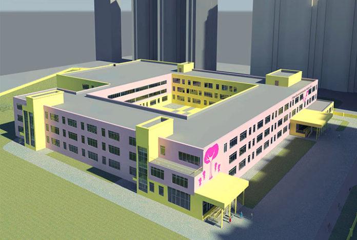 Проект школы на 1100 мест