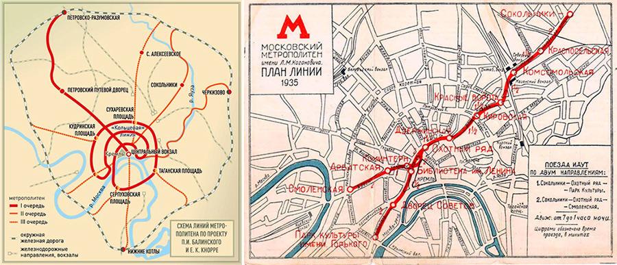Первые проекты метро